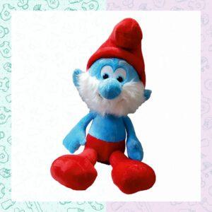 عروسک شخصیت کارتونی اسمورفه برند دیزنی papasmurf